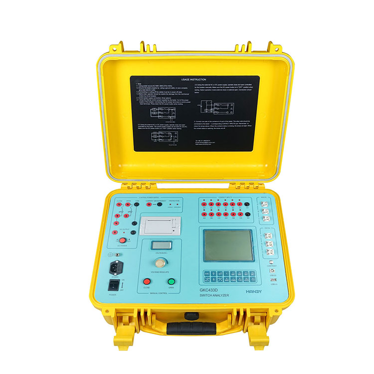 GKC433D Switchgear Analyzer (3 Phases transducers motion)